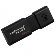 金士顿(Kingston)DT100G3 32GB USB3.0 U盘  黑色