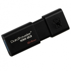 金士顿(Kingston)DT100G3 64GB USB3.0 U盘 黑色